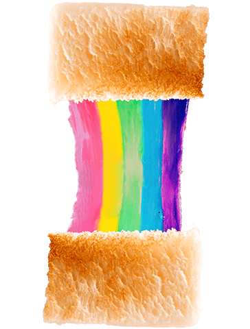 RAINBOW CHEESE SANDWICH